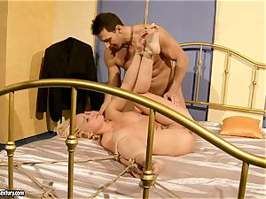 scorching Kathia Nobili gets her cootchie crammed with salami