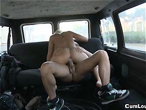 euro mega-bitch Zorah milky smashing inwards our Car