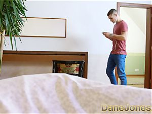 Dane Jones humungous knockers japanese cuckold behind his back