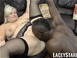LACEYSTARR - grandma anally creampied with big black cock