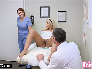 Trickery cougar Bridgette B has hook-up with yam-sized fuck-stick physician