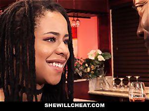 SheWillCheat - cheating wifey pounds bbc in bathroom