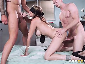 magnificent manager Julia Ann gets a double creaming