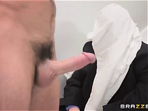 modest husband observes his wife Monique Alexander get booty-fucked