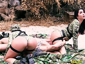 Angela milky, Karlee Grey - super-fucking-hot army cocksluts with massive udders