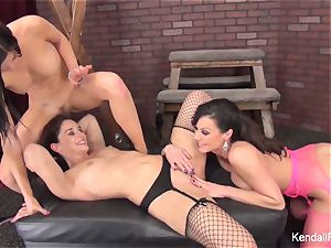 Kendall, Kendra, and Sheena have some fetish joy