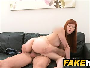 faux Agent internal ejaculation for new redhead yankee model