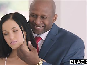 BLACKED warm Megan Rain Gets DP'd By Her Sugar father and His buddy