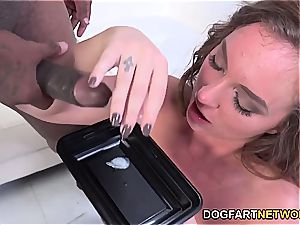 Maddy O'Reilly Gets double Dicked By ebony studs