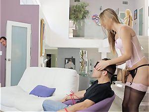 Jillian Janson screws her lover in front of her dude