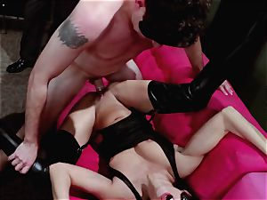 studs witness on as Britney Amber and Nikki Daniels gang penetrate