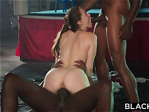 BLACKED Tori dark-hued Is oiled Up And predominated By 2 BBCs