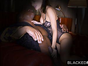 BLACKEDRAW wifey enjoys his enormous ebony bone a lil' too much