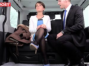 LETSDOEIT - Czech superslut Tricked and penetrated By cab Driver