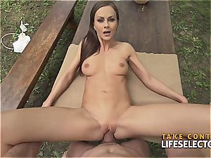 amazingly fit brown-haired sweetie luvs to get super-naughty in public