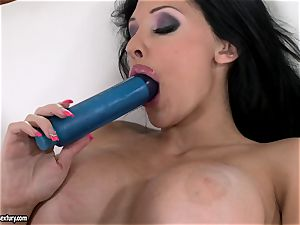 ultra-kinky babe Aletta Ocean humps her pink hole with her fave blue toy
