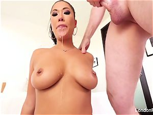 wonderful asian London Keyes knows how to deep-throat cock