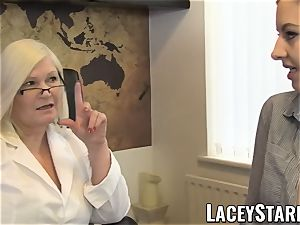 LACEYSTARR - GILF heals patient with all girl climax
