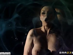 Tina Kay - A ideal evening with buxom stripper