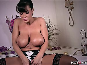 Lisa Ann is inserting that gVibe real deep