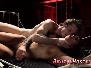 duo predominate sitter restrain bondage excited youthful tourists Felicity Feline and Jade