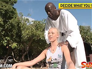 teen Dolly gets plowed from black Guru