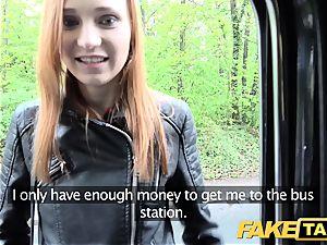 fake taxi slender red-haired enjoys rough hookup