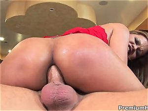 cockslut Mika Kani is porked up her dripping moist pussy