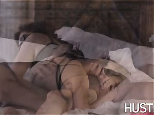 busty Ella Knox dominated with ample man rod jizz flow