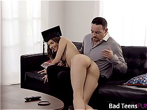 Jillian is a naughty college girl who needs to get punished