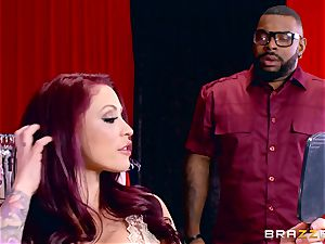 Monique Alexander getting her sugary-sweet puss romped by a dark-hued boner