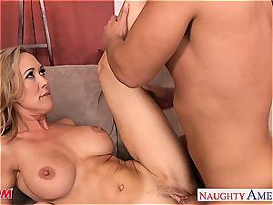 ash-blonde Brandi love has supreme titties and loves thick bone