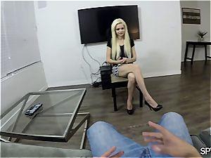 tiny blond teen with waxed vagina fucked