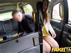 fake taxi horny red-haired sweetie in dirty drill