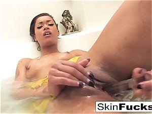 skin Diamond super-naughty bathtub playtime