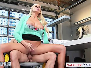 Summer Brielle at the office down for a supreme hump