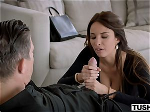 TUSHY killer French dame likes ass fucking