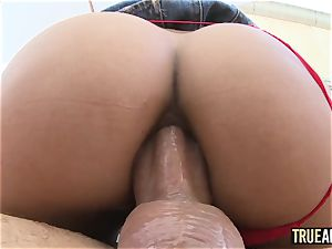 TRUE anal invasion Chloe Amour In pigtails And butt romped