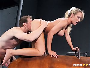 Capri Cavanni finishes her exercise with some gigantic man-meat