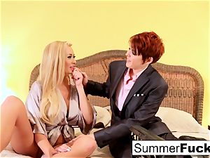 blonde housewife Summer fucks fabulous salesman Lily