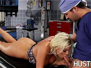 jaw-dropping Britney Amber smashed during doctors examination