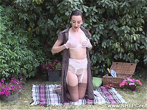 honey picnic demonstrating hard globes shave gash retro nylons