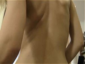 tanned ash-blonde railing Rocco Siffredi