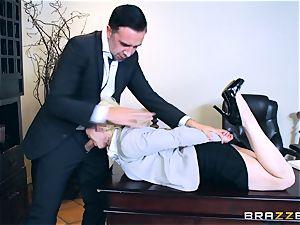 insatiable stunner Nikki Delano gagged by ginormous boner