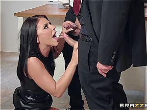 Adriana Chechik gets phat facial after group sex