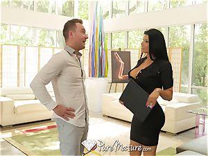 PUREMATURE milf real estate agent Romi Rain plowed