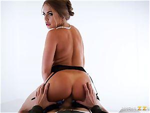 Alessandra Jane monster knob gargling on VR