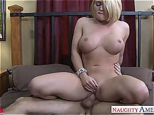 big-chested ash-blonde Krissy Lynn romping