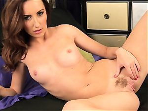 Sophia Smith peels off from lingerie to have fun solo
