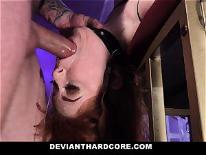 DeviantHardcore - scorching redhead Gets hatch pulverized